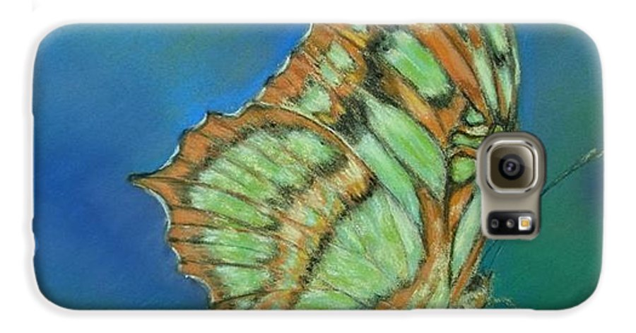 Butterfly Galaxy S6 Case featuring the painting Malachite by Ceci Watson