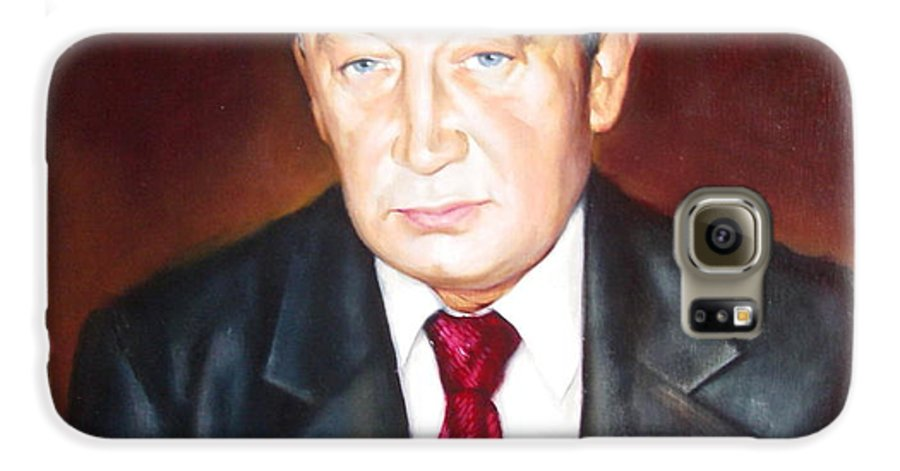 Art Galaxy S6 Case featuring the painting Man 1 by Sergey Ignatenko