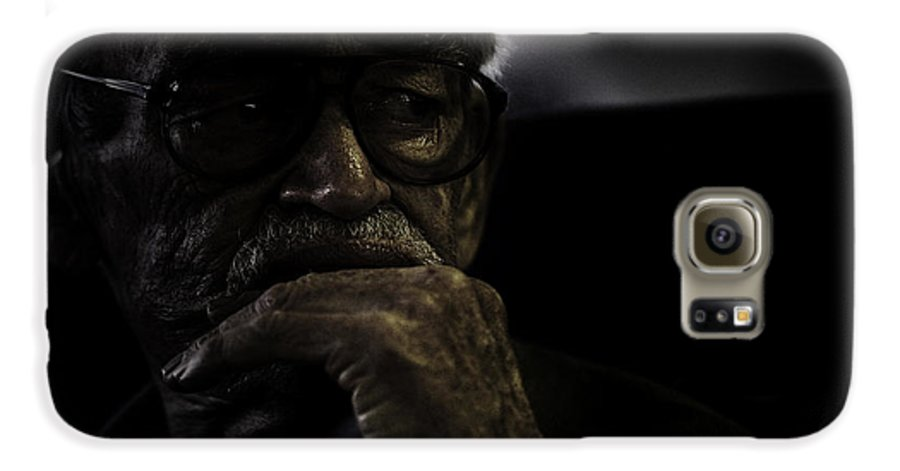 Portrait Galaxy S6 Case featuring the photograph Man On Ferry by Sheila Smart Fine Art Photography