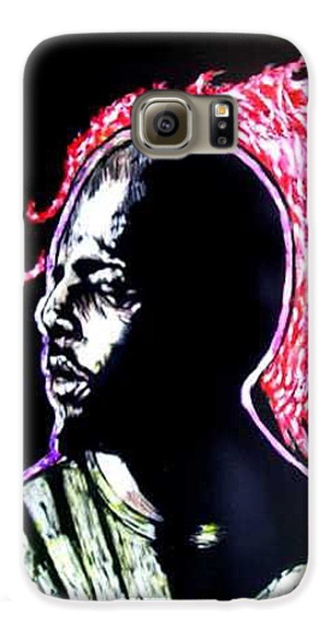 Galaxy S6 Case featuring the mixed media Man On Fire by Chester Elmore