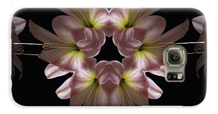 Mandala Galaxy S6 Case featuring the digital art Mandala Amarylis by Nancy Griswold