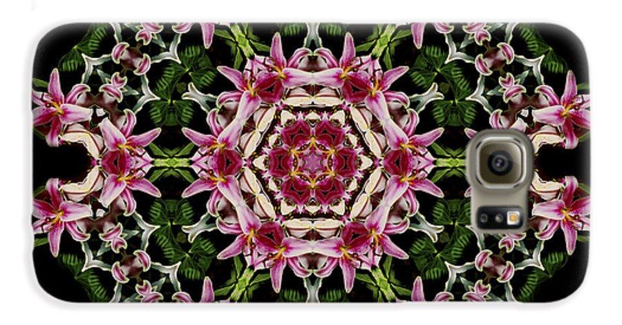 Mandala Galaxy S6 Case featuring the photograph Mandala Monadala Lisa by Nancy Griswold