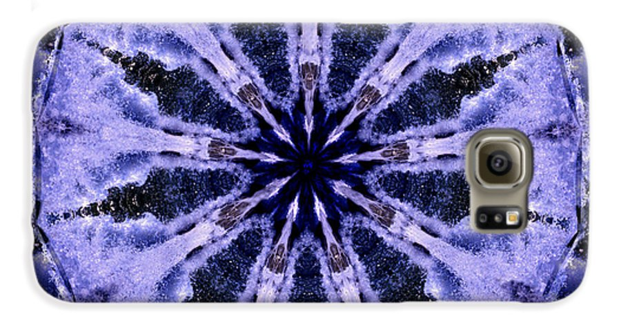 Mandala Galaxy S6 Case featuring the digital art Mandala Ocean Wave by Nancy Griswold