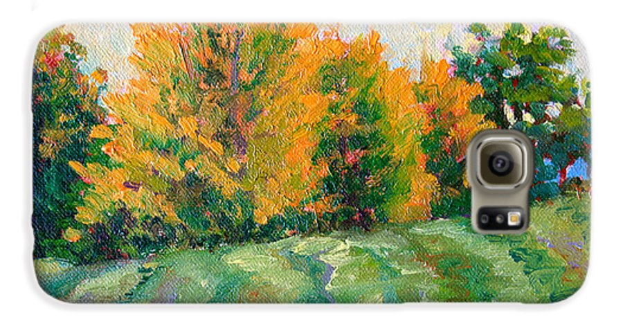 Impressionism Galaxy S6 Case featuring the painting Maple Grove by Keith Burgess