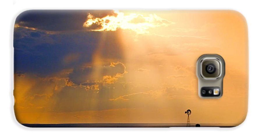 Skip Hunt Galaxy S6 Case featuring the photograph Marfa Windmill 1 by Skip Hunt
