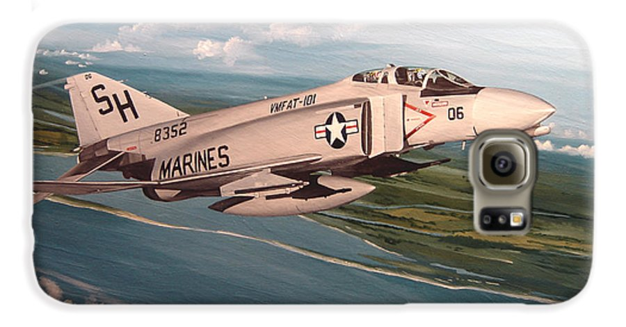 Aviation Galaxy S6 Case featuring the painting Marine Phantom by Marc Stewart