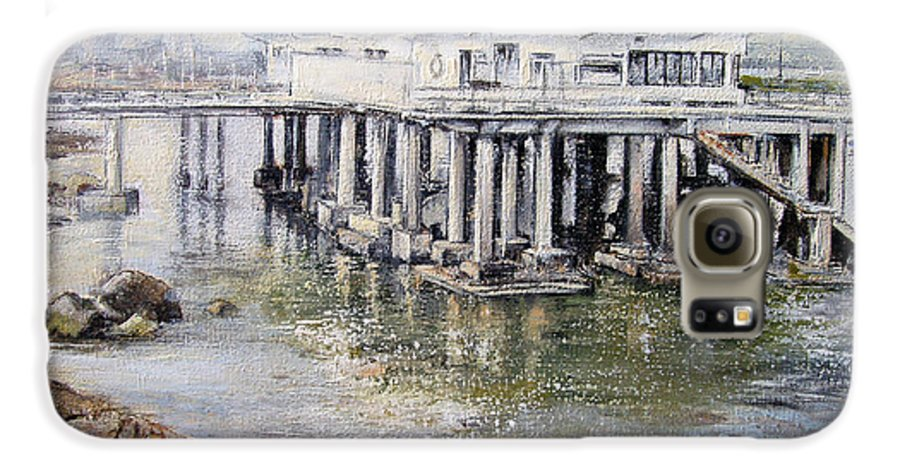 Maritim Galaxy S6 Case featuring the painting Maritim Club Castro Urdiales by Tomas Castano