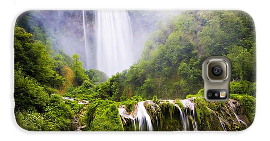Italy Galaxy S6 Case featuring the photograph Marmore Waterfalls Italy by Marilyn Hunt