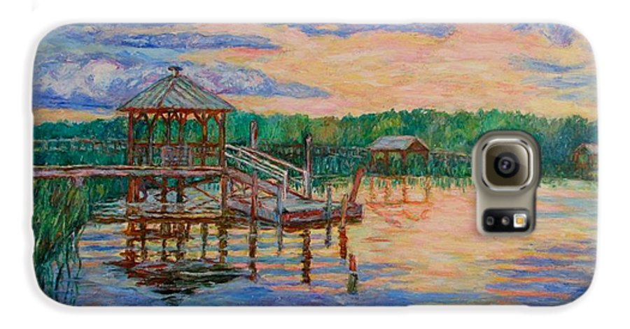 Landscape Galaxy S6 Case featuring the painting Marsh View At Pawleys Island by Kendall Kessler