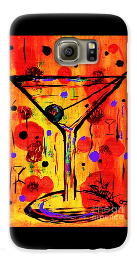 Martini Galaxy S6 Case featuring the painting Martini Twentyfive Of Sidzart Pop Art Collection by Sidra Myers