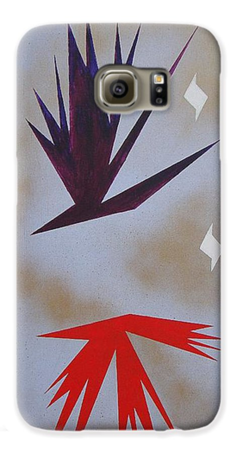 Birds Galaxy S6 Case featuring the painting Mating Ritual by J R Seymour