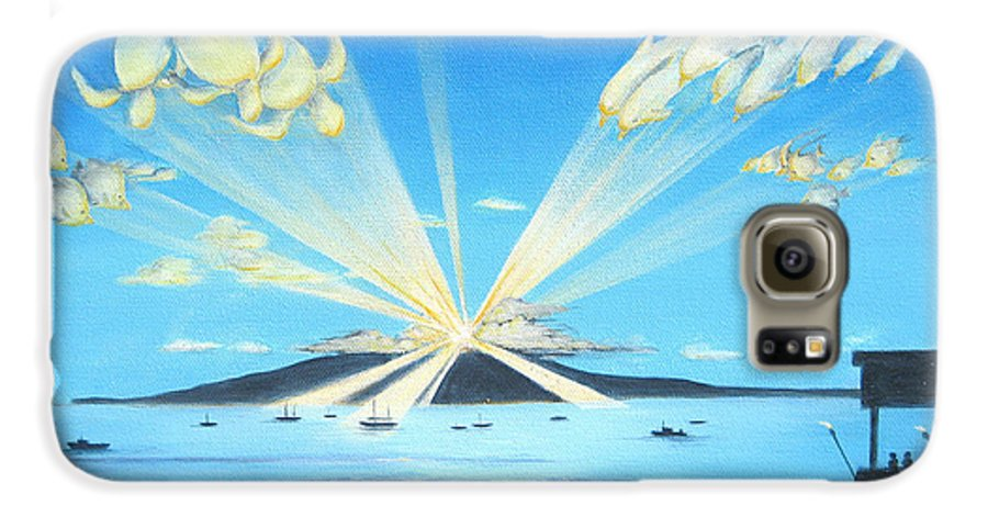 Maui Galaxy S6 Case featuring the painting Maui Magic by Jerome Stumphauzer
