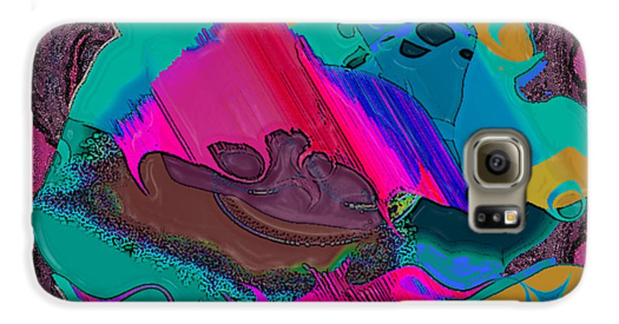Ebsq Galaxy S6 Case featuring the digital art Mauve Abstract by Dee Flouton