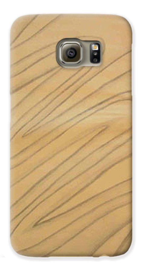Abstract Galaxy S6 Case featuring the drawing Maze Of Life Drawing by Natalee Parochka