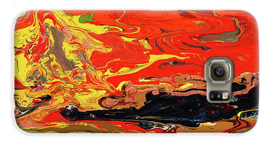 Fusionart Galaxy S6 Case featuring the painting Melt by Ralph White