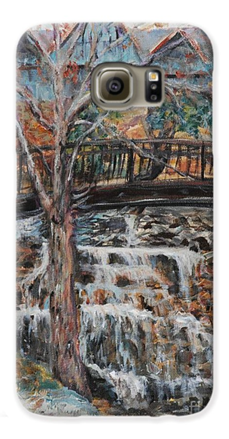 Waterfalls Galaxy S6 Case featuring the painting Memories by Nadine Rippelmeyer