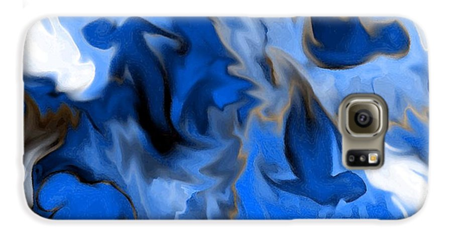 Mermaids Galaxy S6 Case featuring the digital art Mermaids by Shelley Jones