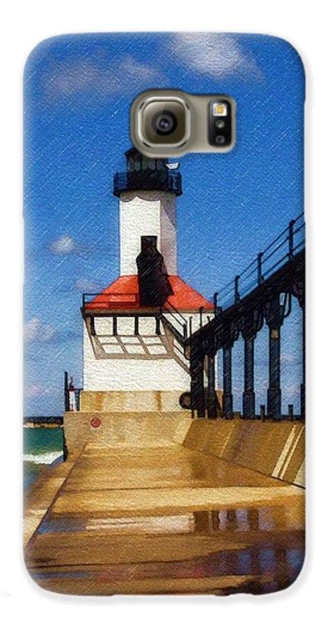Lighthouse Galaxy S6 Case featuring the photograph Michigan City Light 1 by Sandy MacGowan