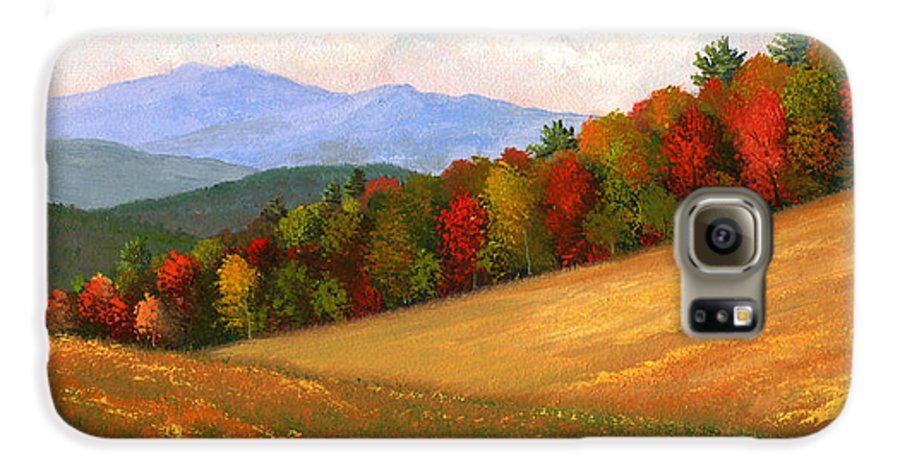 Landscape Galaxy S6 Case featuring the painting Mid Autumn by Frank Wilson