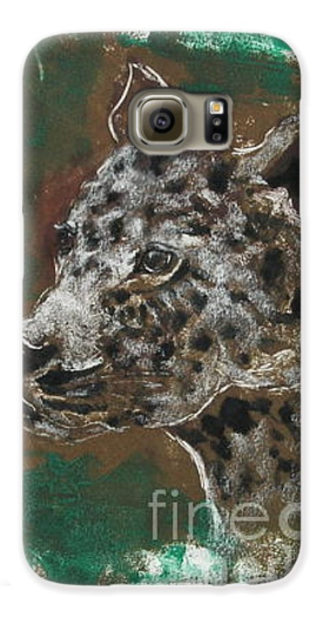 Monotype Galaxy S6 Case featuring the mixed media Midnight Prowler by Cori Solomon