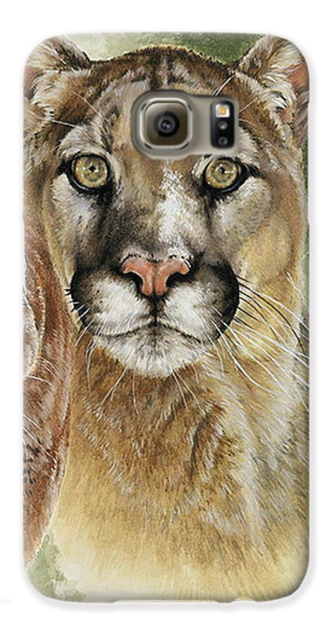 Cougar Galaxy S6 Case featuring the mixed media Mighty by Barbara Keith