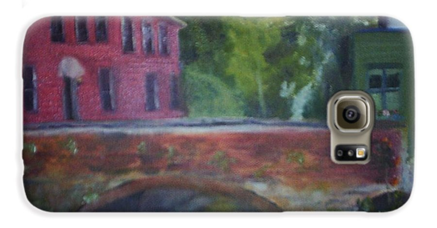 Mill Street Galaxy S6 Case featuring the painting Mill Street Plein Aire by Sheila Mashaw