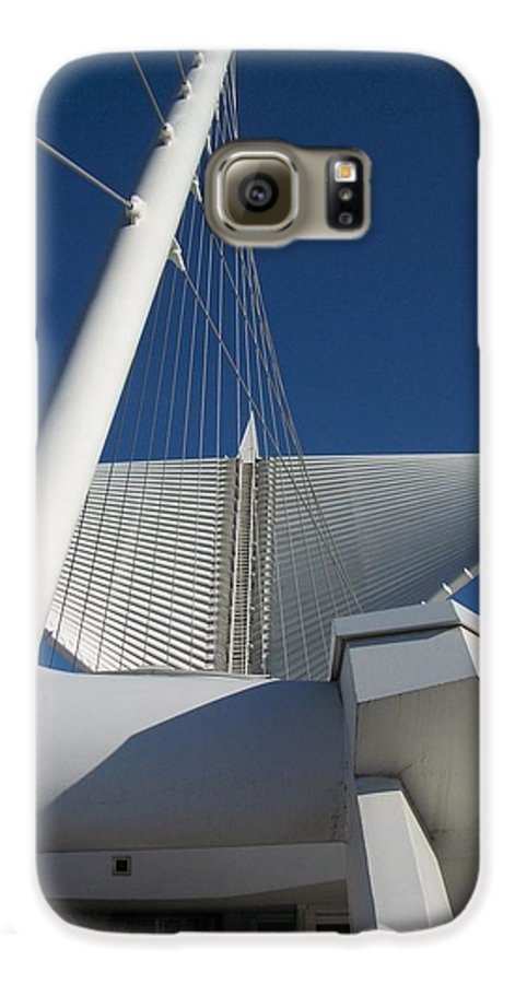 Mam Galaxy S6 Case featuring the photograph Milwaukee Art Museum Cropped by Anita Burgermeister