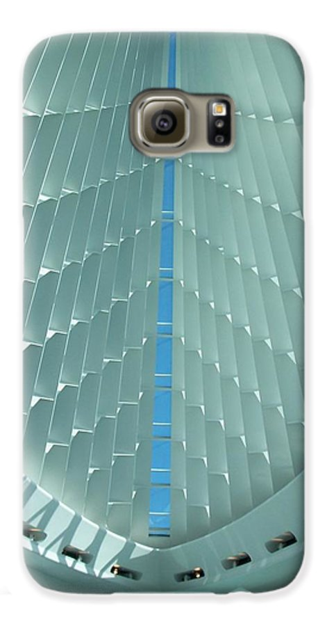 Mam Galaxy S6 Case featuring the photograph Milwaukee Art Museum Interior by Anita Burgermeister