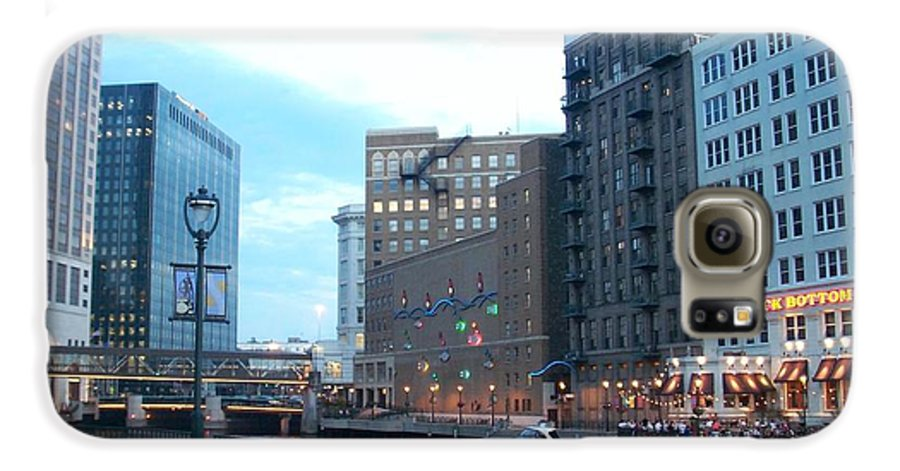 Milwaukee Galaxy S6 Case featuring the photograph Milwaukee River Walk by Anita Burgermeister