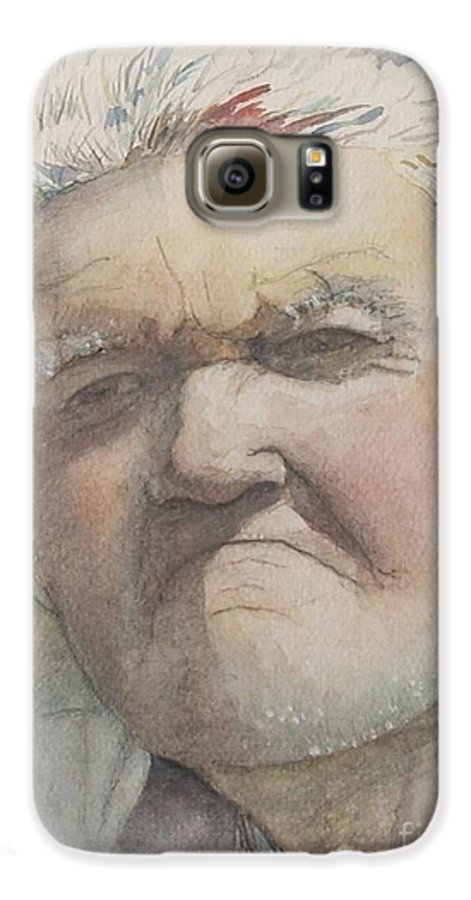 Portrait Galaxy S6 Case featuring the painting Minnesota Farmer by Nadine Rippelmeyer