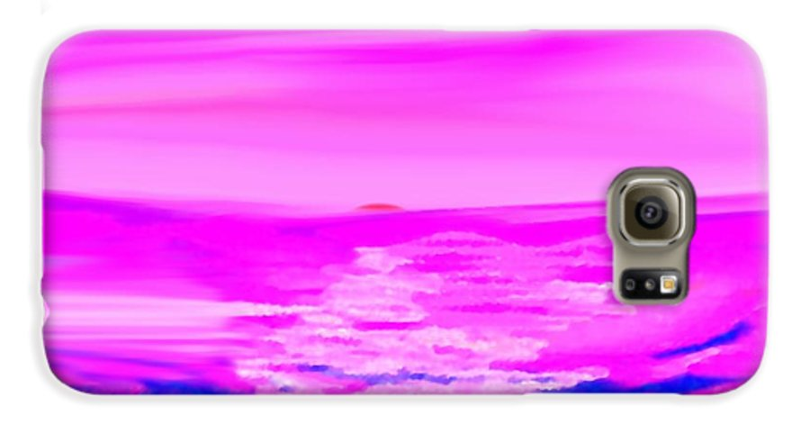 Sunset Galaxy S6 Case featuring the digital art Miracle Sunset-sun And Sky In One Dance by Dr Loifer Vladimir