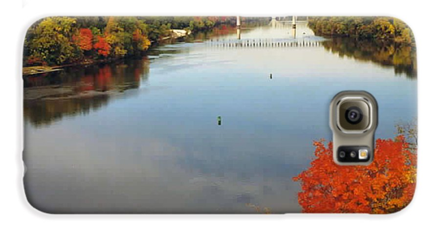 Mississippi Galaxy S6 Case featuring the photograph Mississippi River by Kathy Schumann