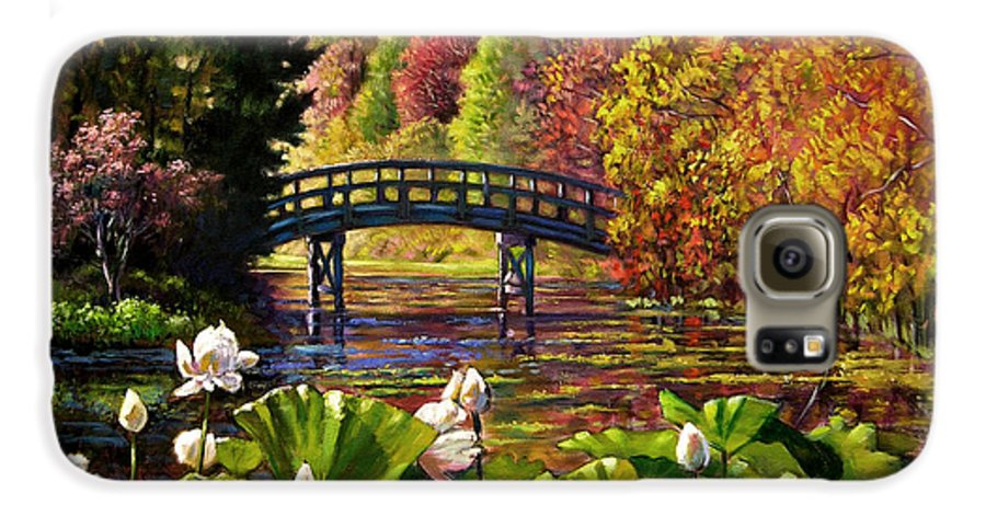 Landscape Galaxy S6 Case featuring the painting Missouri Memories by John Lautermilch
