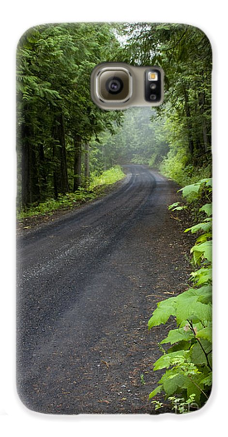 Road Galaxy S6 Case featuring the photograph Misty Mountain Road by Idaho Scenic Images Linda Lantzy