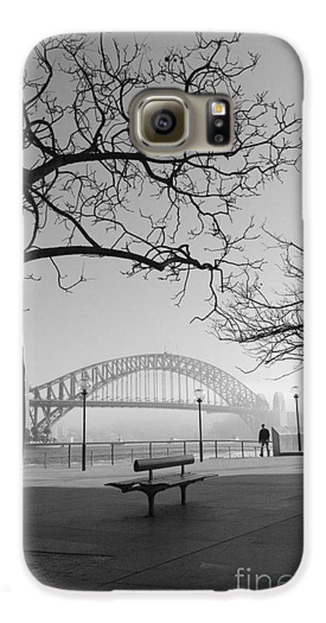 Sydney Harbour Bridge Mist Australia Galaxy S6 Case featuring the photograph Misty Sydney Morning by Sheila Smart Fine Art Photography