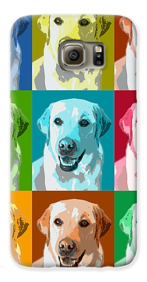 Americana Galaxy S6 Case featuring the photograph Golden Retriever Warhol by Marilyn Hunt