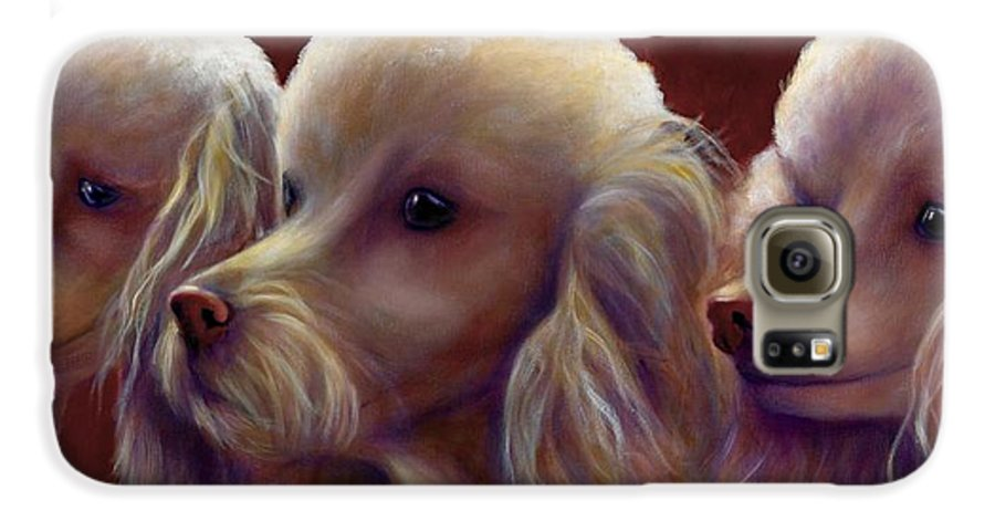 Dogs Galaxy S6 Case featuring the painting Molly Charlie And Abby by Shannon Grissom