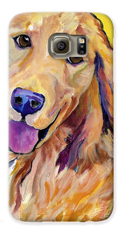 Acrylic Paintings Galaxy S6 Case featuring the painting Molly by Pat Saunders-White