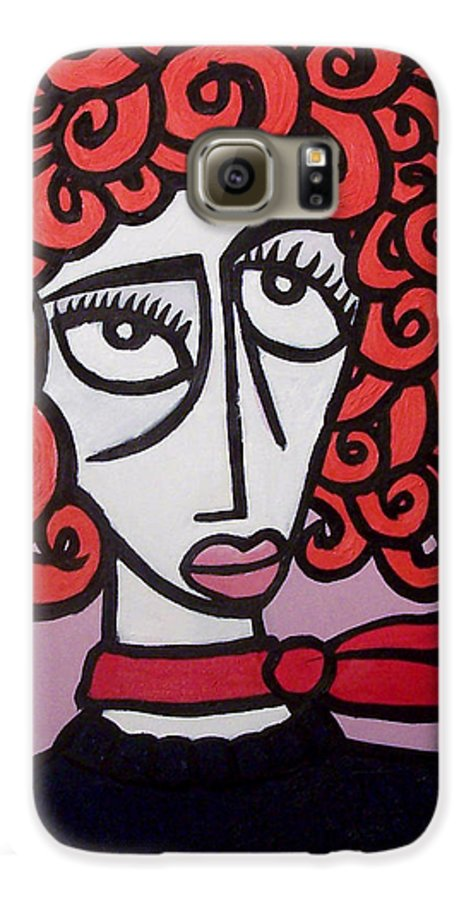 Portaits Galaxy S6 Case featuring the painting Molly by Thomas Valentine