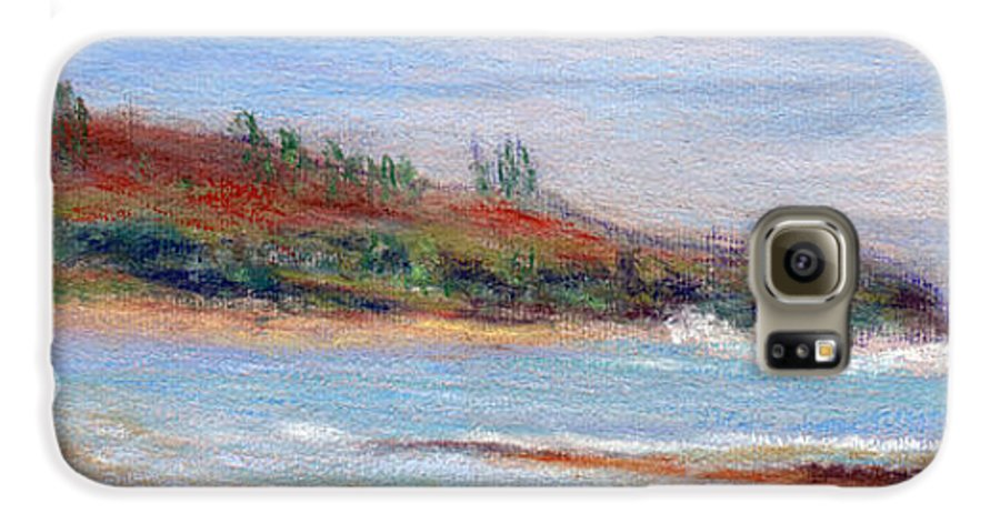 Coastal Decor Galaxy S6 Case featuring the painting Moloa'a Beach by Kenneth Grzesik