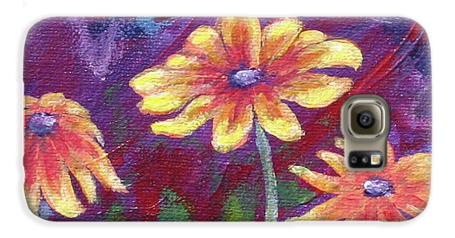 Small Acrylic Painting Galaxy S6 Case featuring the painting Monet's Small Composition by Jennifer McDuffie