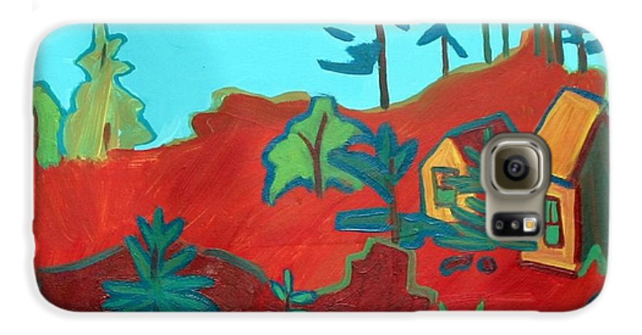 Beach Galaxy S6 Case featuring the painting Monhegan Hue by Debra Bretton Robinson
