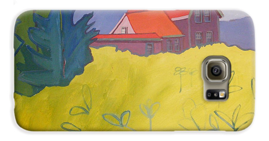 Lighthouse Galaxy S6 Case featuring the painting Monhegan Light by Debra Bretton Robinson
