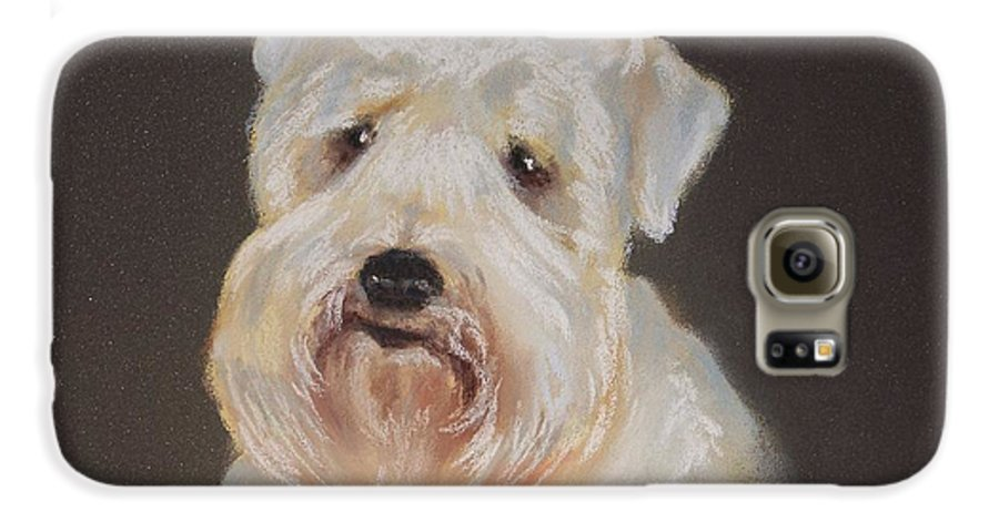 Pet Galaxy S6 Case featuring the painting Monique's Bailey by Carol Mueller