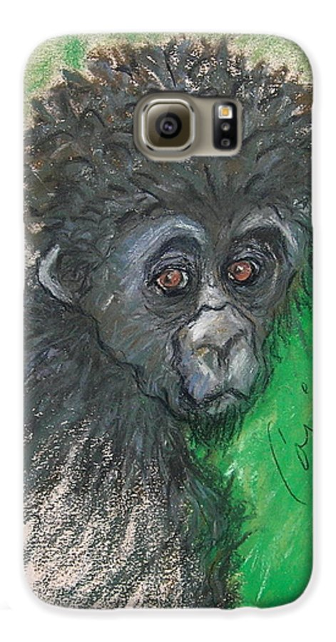 Monkey Galaxy S6 Case featuring the drawing Monkey Business by Cori Solomon