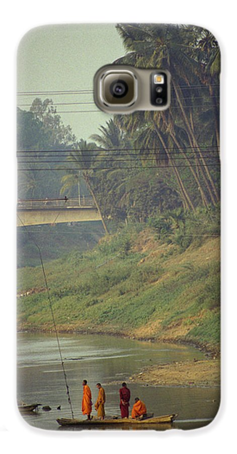 Monks Galaxy S6 Case featuring the photograph Monks - Battambang by Patrick Klauss