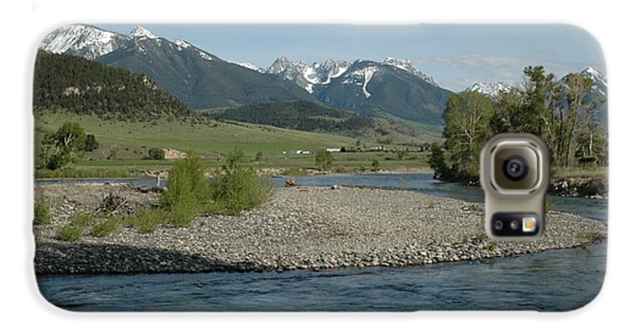Stream Galaxy S6 Case featuring the photograph Montana Stream by Kathy Schumann