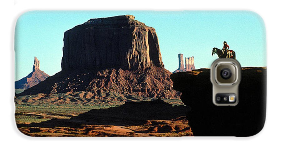 Man Galaxy S6 Case featuring the photograph Monument Valley by Carl Purcell