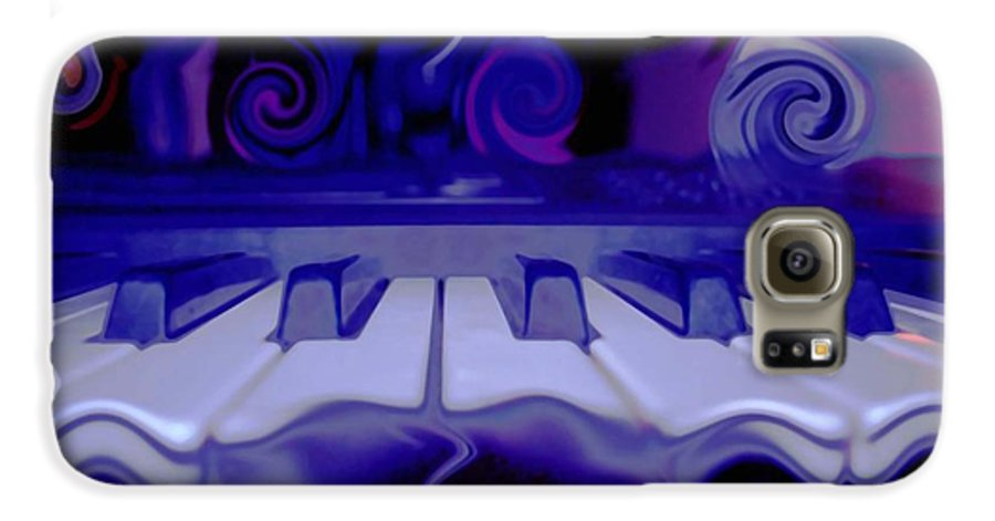 Music Galaxy S6 Case featuring the photograph Moody Blues by Linda Sannuti