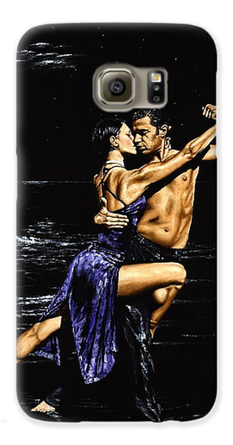 Moonlight Galaxy S6 Case featuring the painting Moonlight Tango by Richard Young